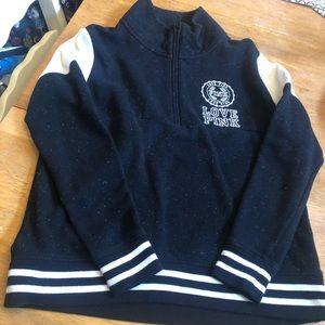 PINK half zip sweatshirt top great cond size S
